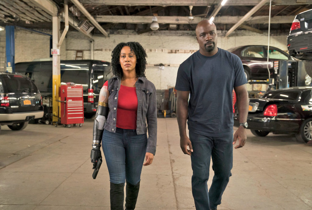 Luke Cage and Misty Knight team-up
