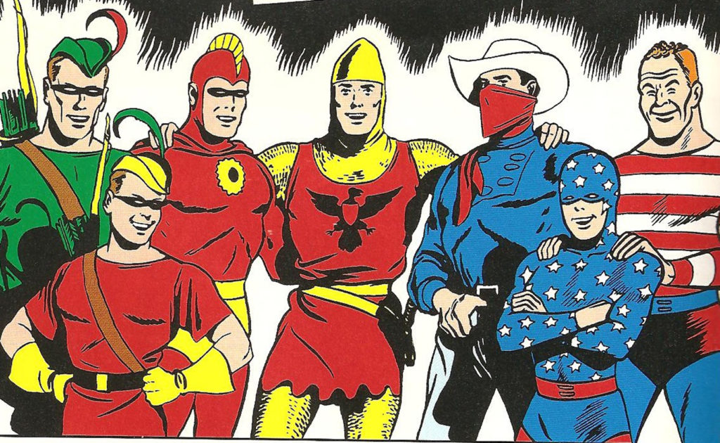 DC Comic's Golden Age Seven Soldiers of Victory lineup