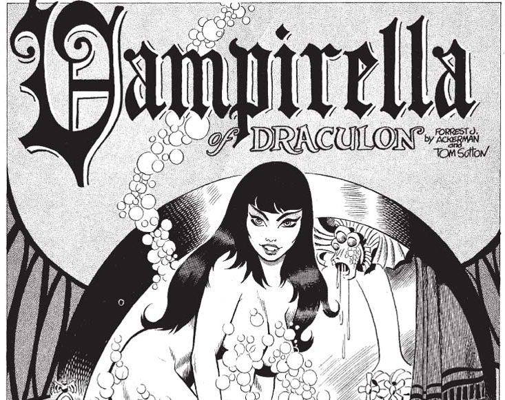 Early horror comics featuring Vampirella