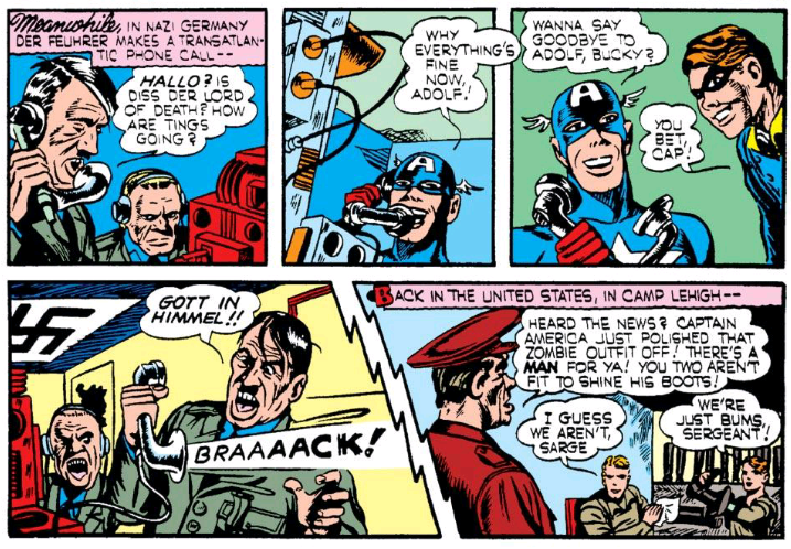 Captain America and Bucky Barnes prank call Hitler during WWII