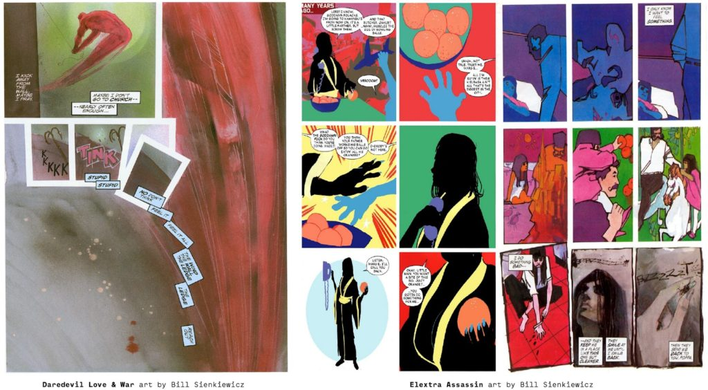 Frank Miller and Bill Sienkiewicz Marvel Comics work