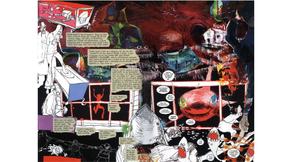 Bill Sienkiewicz artwork in the pages of Sandman