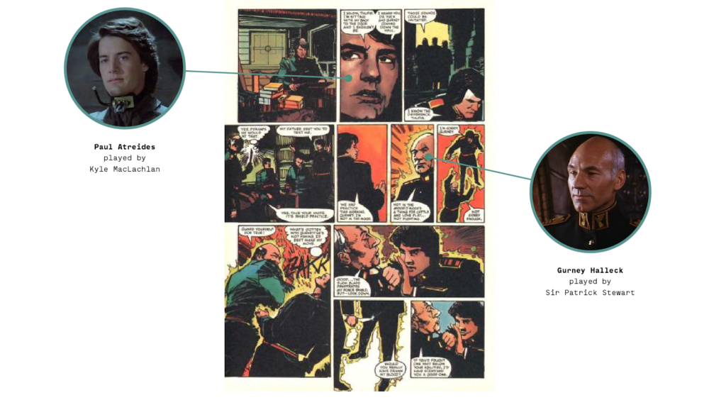 Dune the Movie in a comics adaptation
