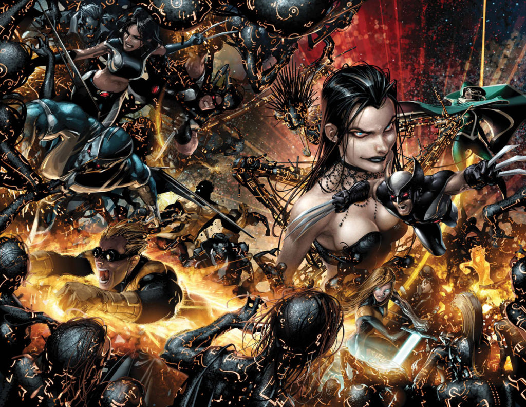 X-Force in the pages of the event Necrosha