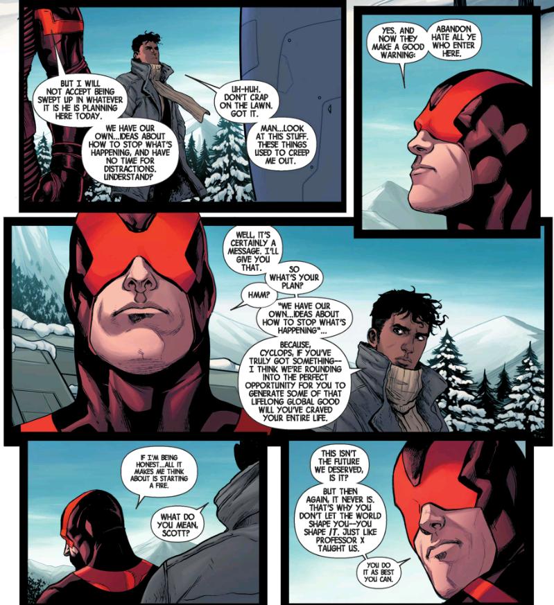 Cyclops plans to stop Secret Wars himself