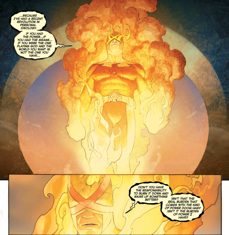 Cyclops has become the Phoenix