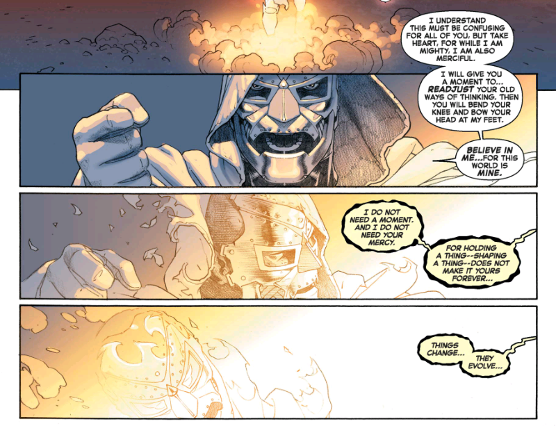 Cyclops takes on Doctor Doom