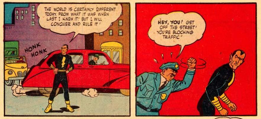 Black Adam in DC's Golden Age of Comics