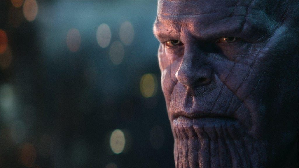 Thanos takes on the Avengers
