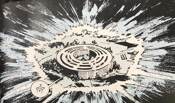 Doom Patrol comics where Flex Mentallo turns the Pentagon into a circle