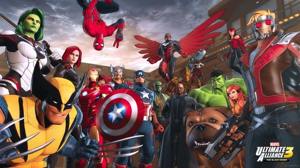 The heroes you can play initially in Marvel Ultimate Alliance 3