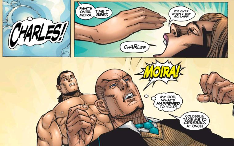 Professor X receives an alert from Moira