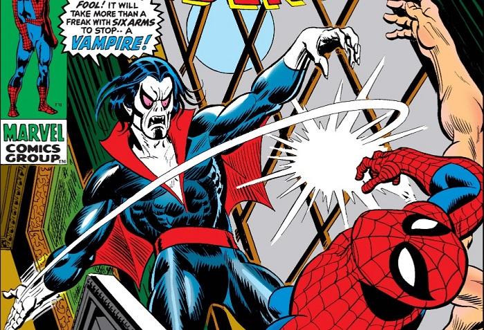 morbius fighting spider-man
