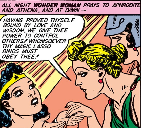 Diana given magic lasso by Athena