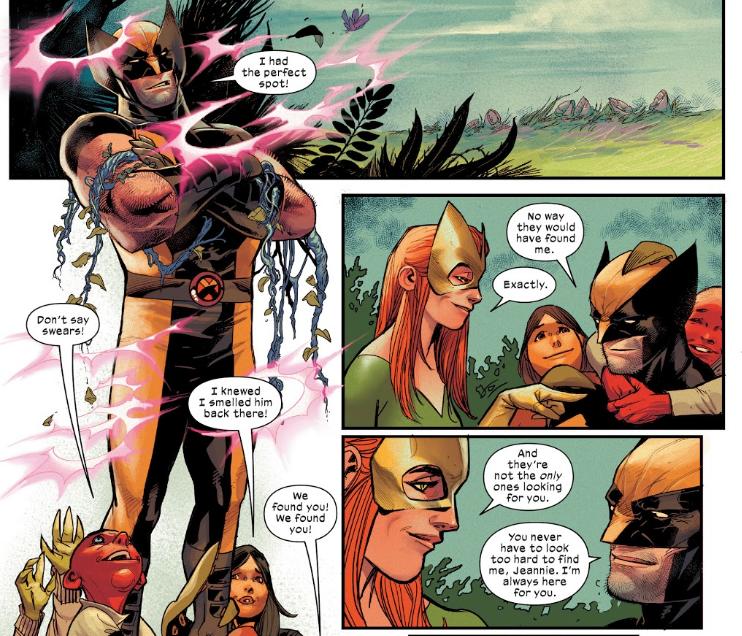 Wolverine plays hide and seek on Krakoa with Jean Grey