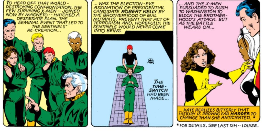 Franklin Richards as part of the X-Men roster in Days of Future past storylin