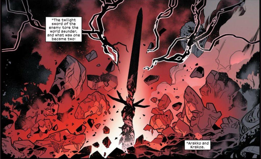 Powers of X Twilight Sword in Arakko and Krakoa X-Men comics