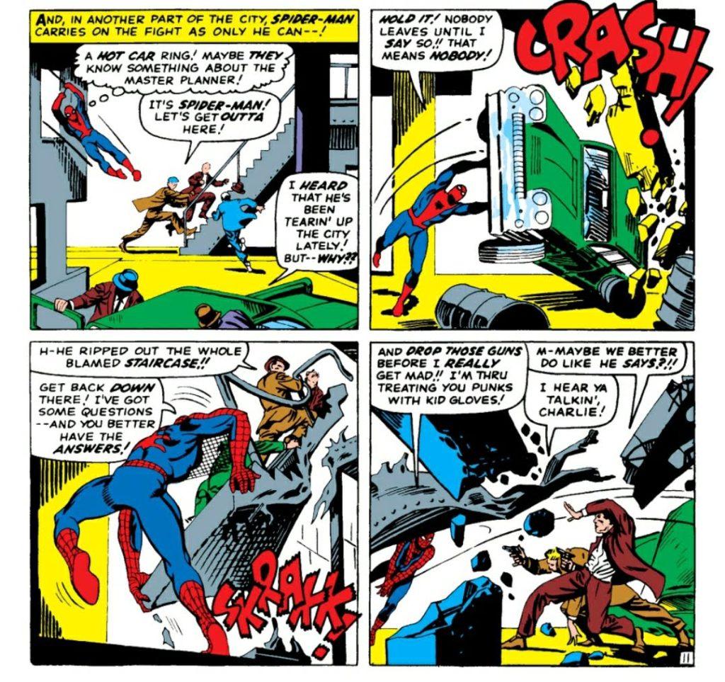 Spider-Man on a rampage