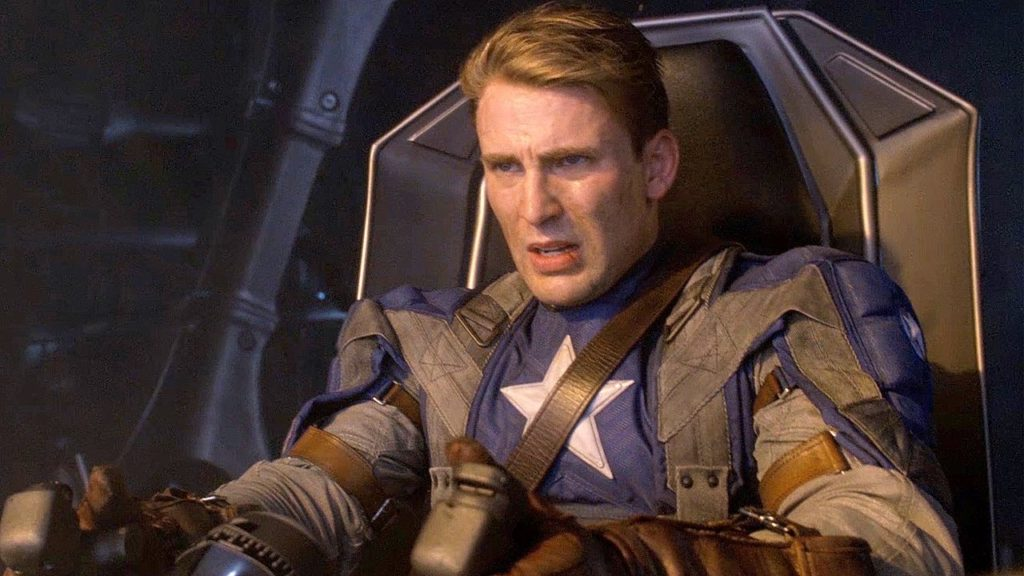 Cap flies a plane in Captain America The First Avenger