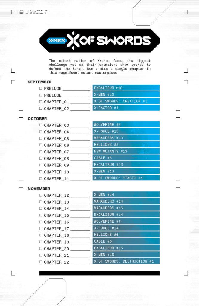 X-Men X Of Swords Reading Order Chart