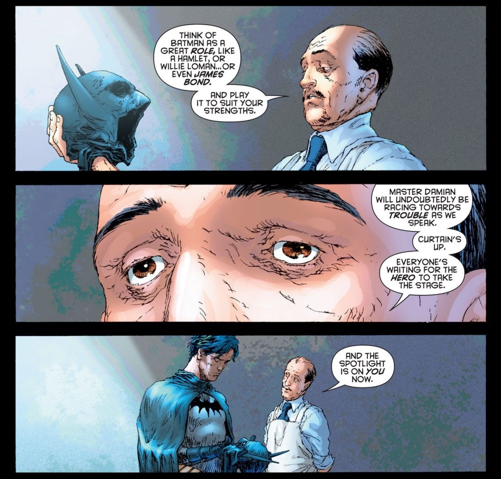 Batman and Alfred in Morrison run