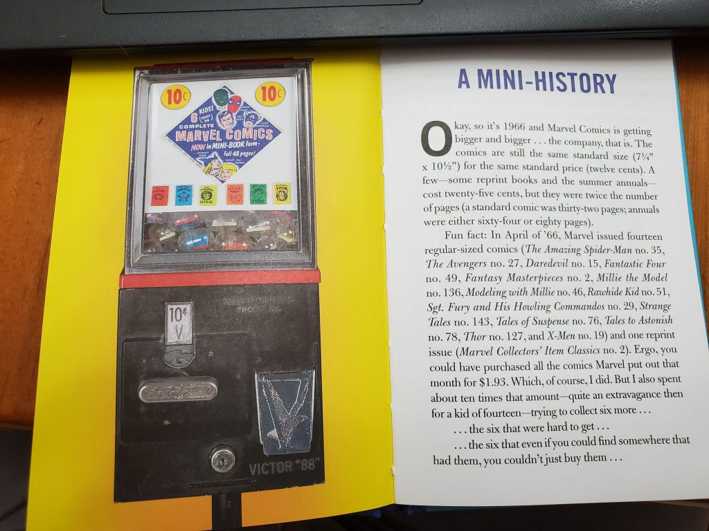 Marvel mini book history
