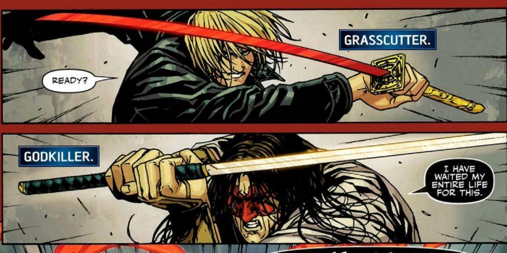 Grasscutter vs Godkiller swords
