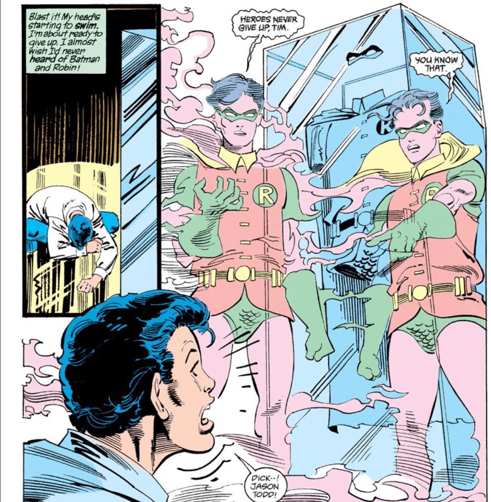 Tim Drake in the original Identity Crisis Batman comics
