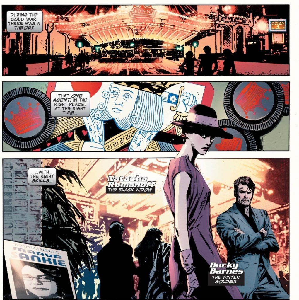 Black Widow and Bucky spies