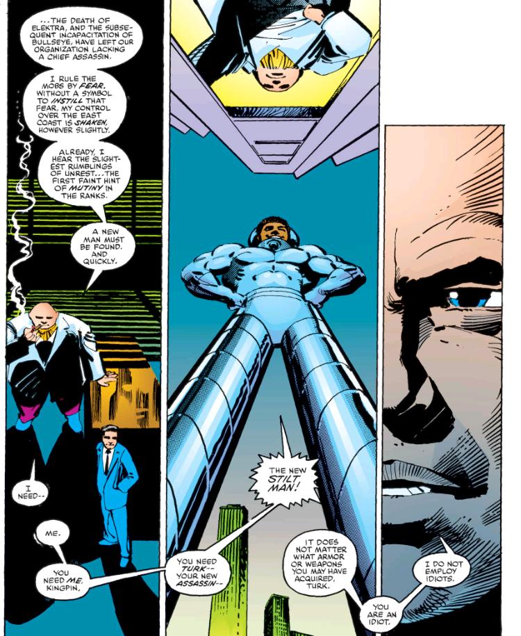 Turk is the new Stilt-Man in Daredevil by Frank Miller