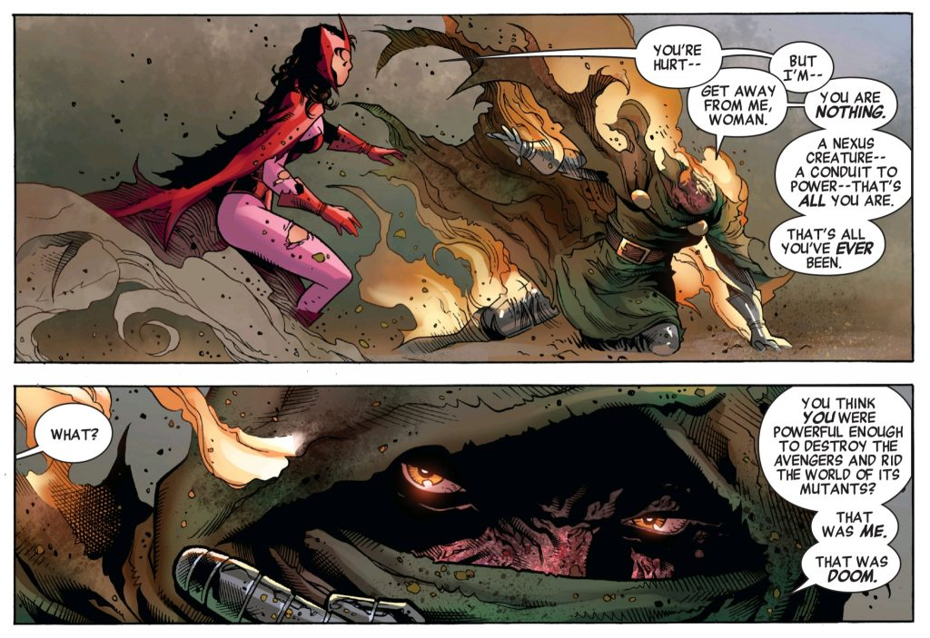 Doctor Doom takes credit for Scarlet Witchs role in house of M