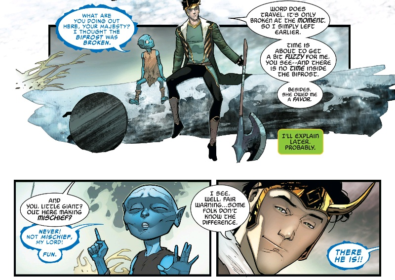 Loki and a kid frost giant