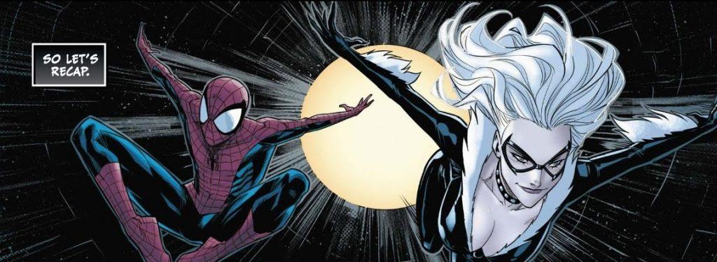 Black Cat (2019) with Spider-Man comics