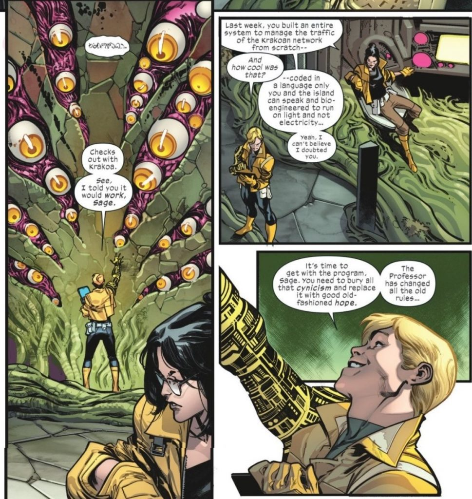 Doug Ramsey and Sage in House of X #1