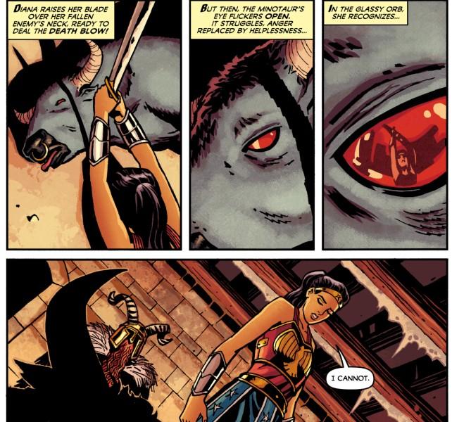 Wonder Woman and the Minotaur