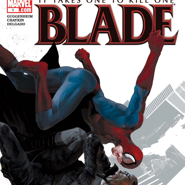 Blade and Spider-Man comic book cover