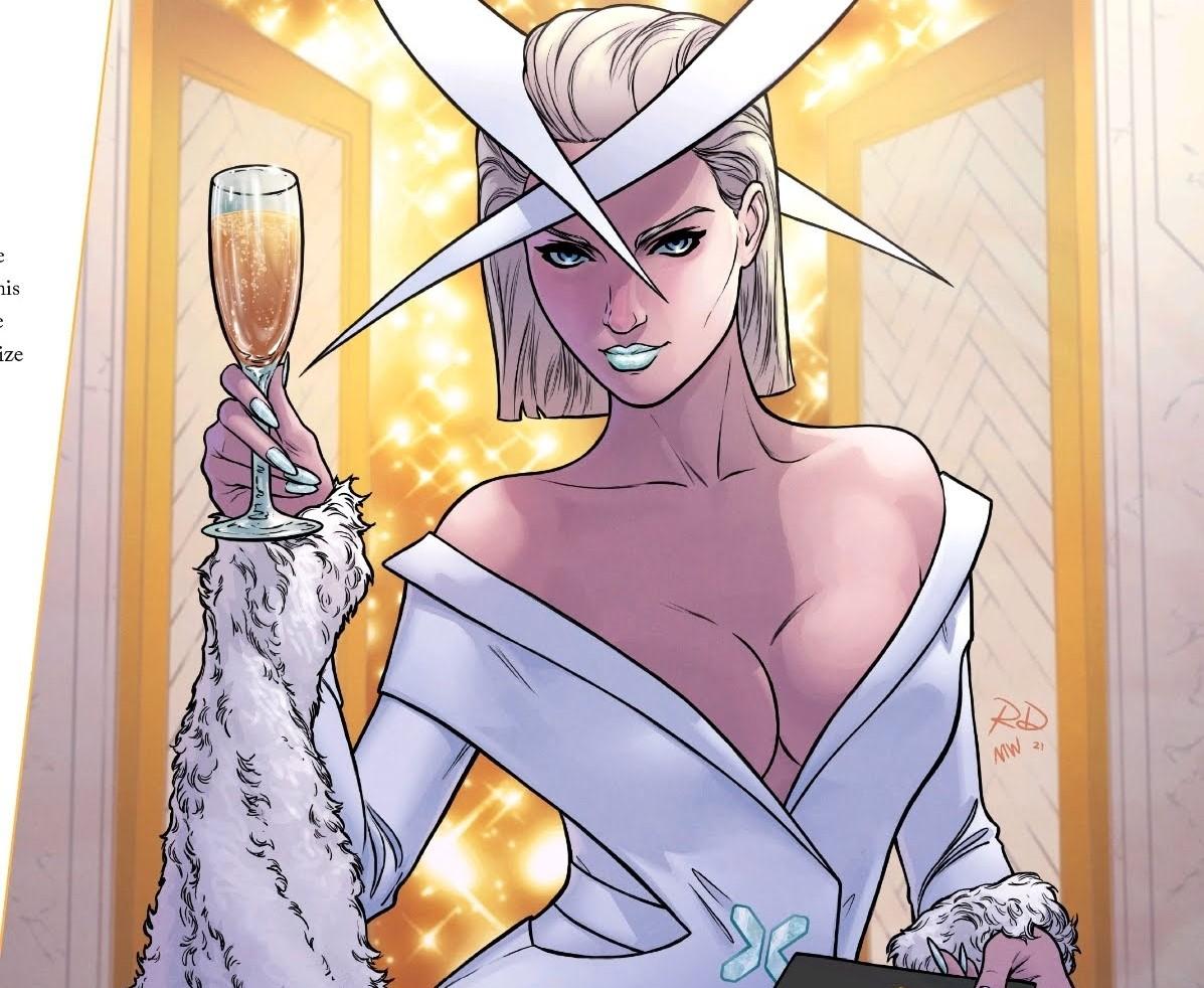 Emma Frost at the X-Men Hellfire Gala 2021