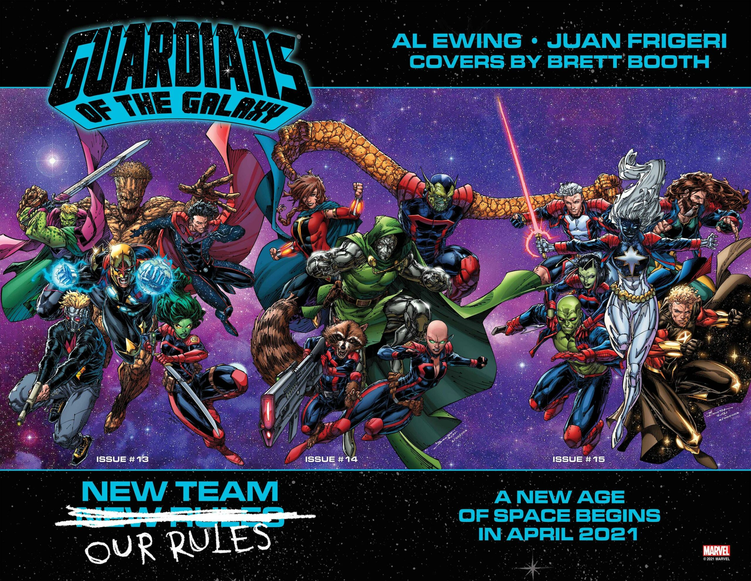 2021 Guardians of the Galaxy lineup by Al Ewing