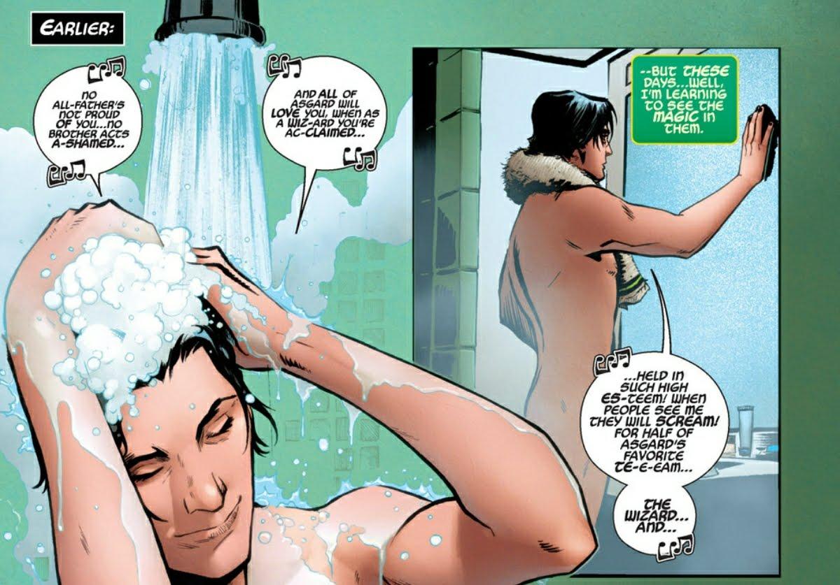 Loki thinks about magic while naked