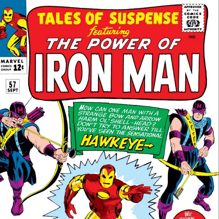 Hawkeye debuts in Iron Man comics