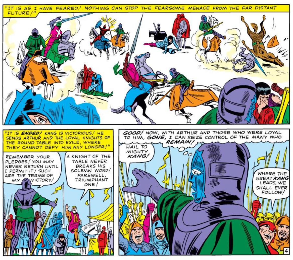 Kang in early Strange Tales Marvel comics