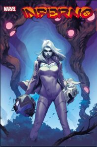 Emma Frost on the cover of Inferno #2